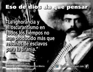 Zapata y dios.