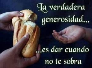 GENEROSIDAD verdadera